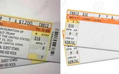 Trump's Reinstatement Fantasy Generates Viral Fake Tickets