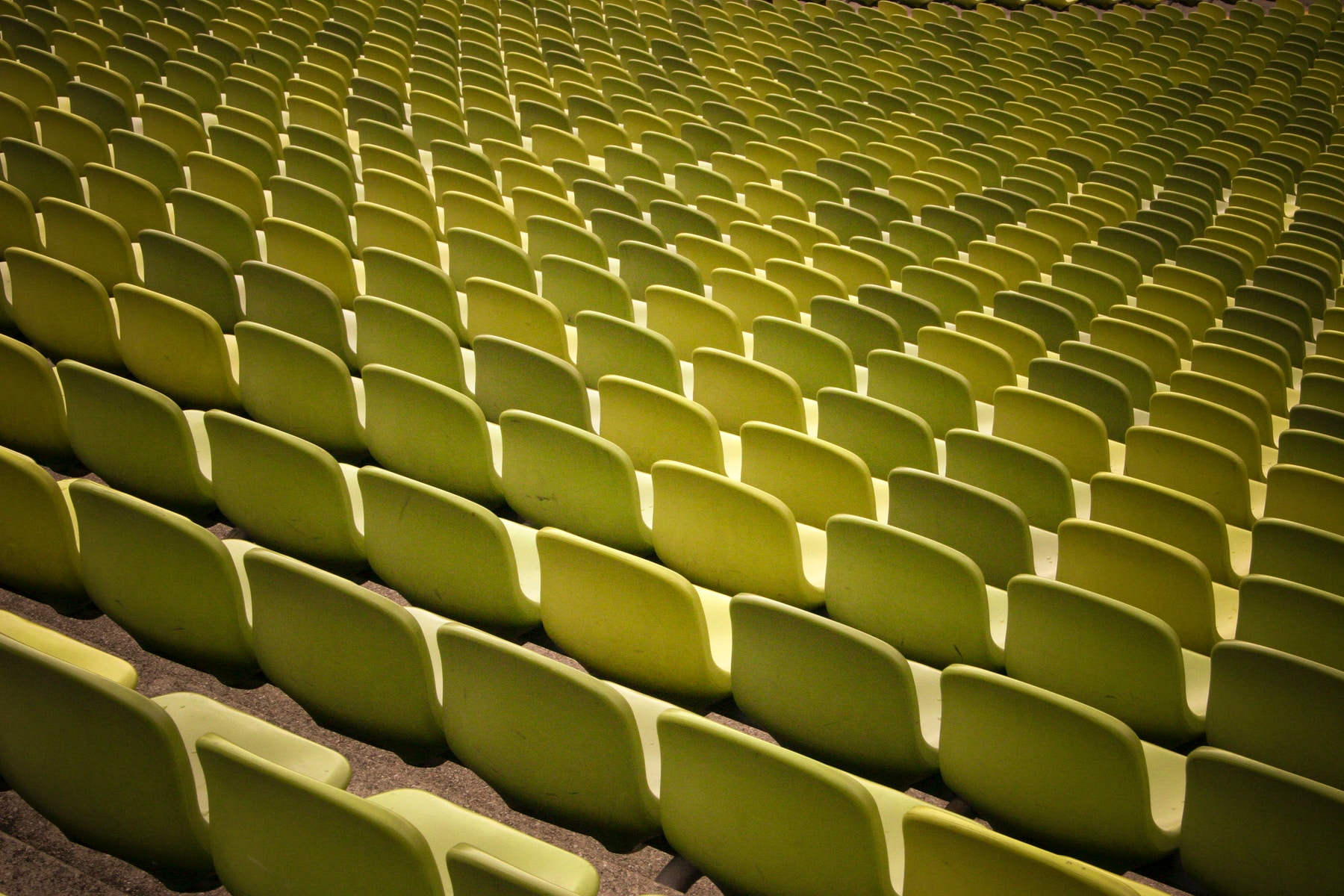 green stadium chairs